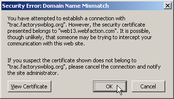 Name Mismatch Error in Firefox 2