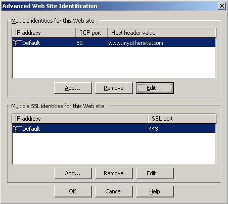 How To Configure SSL Host Headers in IIS 6