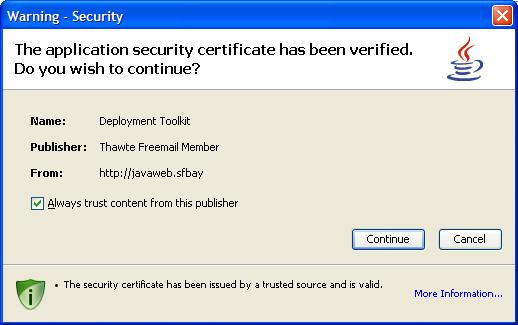 My Code Signing Certificate In The Run Dialog