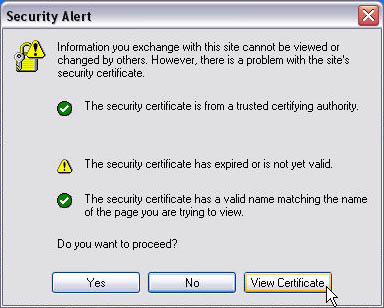 Expired SSL Certificate