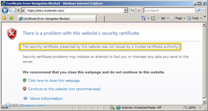 Apache Self signed Certificate Error in Firefox