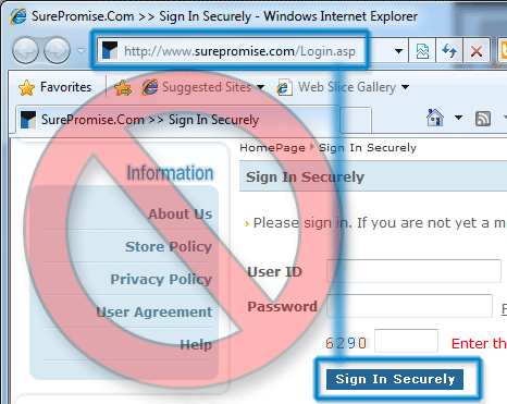 Not securing a login form with SSL