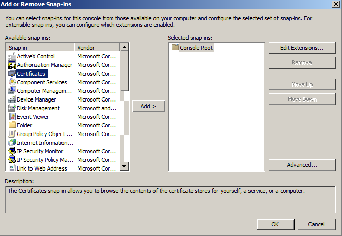 How to Create a Self Signed Certificate in IIS 7