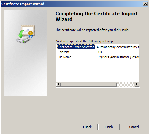 Move or copy an SSL certificate from a Windows server to